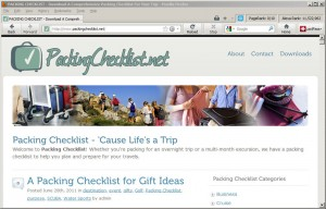 packingchecklist.net